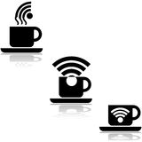 Wifi cafe Royalty Free Stock Photo