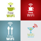 Wifi cafe icon set Stock Photo