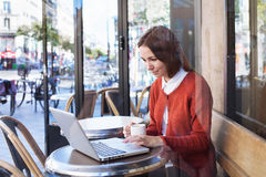 Wifi in cafe Stock Images