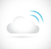 Wifi cloud computing storage server illustration Stock Photo