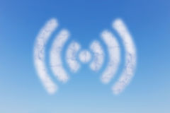 WIFI cloud on sky Stock Images