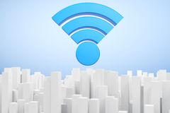 WiFi Communication Abstract Town Royalty Free Stock Photography