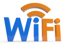 Wifi concept. Royalty Free Stock Images