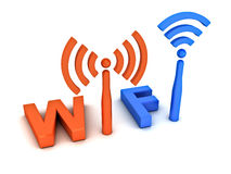 Wifi concept Stock Photography