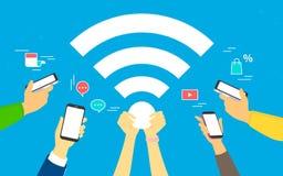 Wifi concept vector illustration Stock Photos