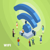 Wifi connected concept stock illustration