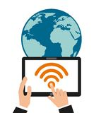 wifi connection design Stock Images