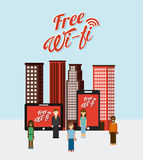 Wifi connection Royalty Free Stock Image