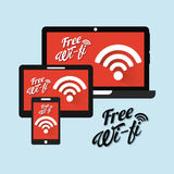 Wifi connection Royalty Free Stock Photography