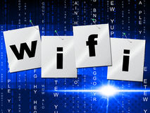 Wifi Connection Shows Computer Transmission And Access Royalty Free Stock Photo