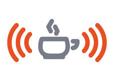 Wifi cup icon Royalty Free Stock Photo