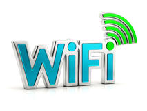 Wifi 3d text isolated sign Royalty Free Stock Photography