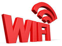 Wifi 3d text on white background Stock Images