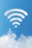 Wifi de la nube fotos de archivo