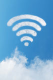 Wifi de nuage Photos stock