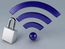 Wifi de sécurité. concept d'Internet Photos stock