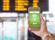 Wifi del aeropuerto Imagenes de archivo