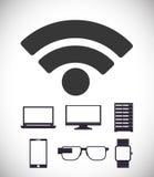 Wifi design Fotografering för Bildbyråer
