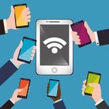 Wifi design Royalty Free Stock Photography