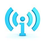 Wifi e icono de la información de i libre illustration