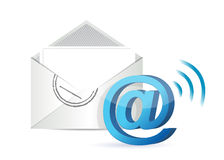 Wifi email illustration design Royalty Free Stock Photography