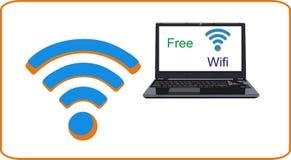 Wifi et ordinateurs portables Photo stock