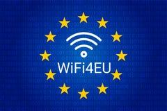 Wifi4eu - points névralgiques gratuits de Wi-Fi dans l'Union européenne Illustration illustration libre de droits