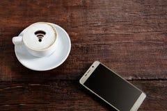 wifi för kaffekopp och bra morgon Royaltyfri Bild