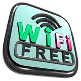 Wifi Free Internet Shows Wireless Stock Image