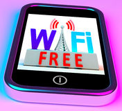 Wifi Free On Smartphone Showing Wireless Royalty Free Stock Photos