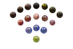 Wifi glass marbles isolated Royalty Free Stock Photography