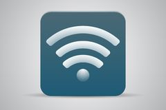 Wifi green flat icon Stock Images