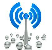 Wifi hot spot icon, internet concept Stock Photo