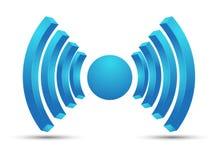 Wifi hotspot icon vector design blue color. Royalty Free Stock Image