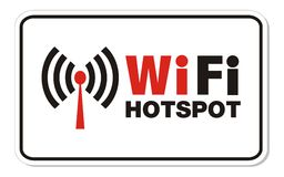 Wifi hotspot rectangle sign Royalty Free Stock Photos