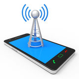 Wifi Hotspot Shows World Wide Web And Antenna Royalty Free Stock Photo
