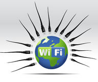 Wifi Icon. Simple illustration for wifi web button or icon Royalty Free Stock Images