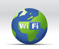 Wifi Icon. Simple illustration for wifi web button or icon Stock Images