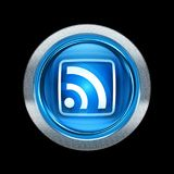 WIFI icon blue with metallic edging. Isolated on black background Royalty Free Stock Photography