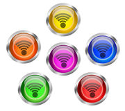 WIFI Icon Button Stock Photography