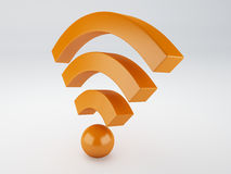 Wifi icon. 3d illustration Stock Image