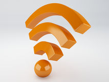 Wifi icon. 3d illustration Royalty Free Stock Photography