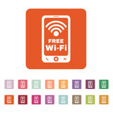 The wifi icon. Free Wifi symbol. Flat Royalty Free Stock Images