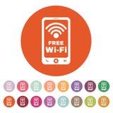 The wifi icon. Free Wifi symbol. Flat Stock Photography