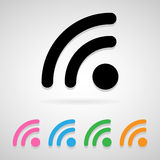 Wifi icon great for any use. Vector EPS10. Royalty Free Stock Image