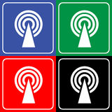 Wifi icon great for any use. Vector EPS10. Royalty Free Stock Photos