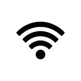 Wifi icon. Isolated on white Royalty Free Stock Images