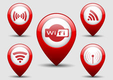 WiFi Icon Set Royalty Free Stock Photo