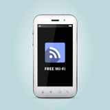 WiFi icon showing on smart-phone Stock Images