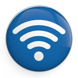 WiFi icon. WiFi sign 3D icon isolated on white royalty free stock image